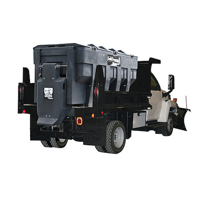 "Picture of Buyers SaltDogg 3 Cubic Yard Electric Poly Salt Spreader with 12"" W Conveyor Chain Feed Mechanism for Heavy-Duty Municipal & Commercial Applications"