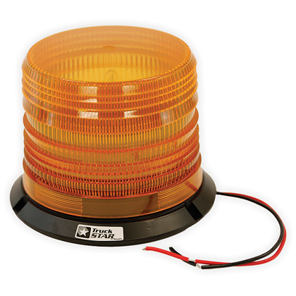 Picture of Amber Permanent Mount Dual Flash Snow Plow Strobe Light