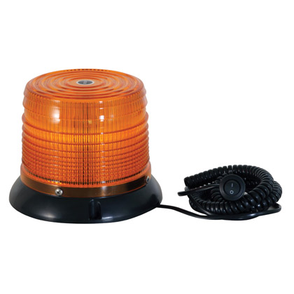 "Picture of Eight Flash 6 LED Amber Strobe Light - 1"" Pipe/3-Bolt Mount"