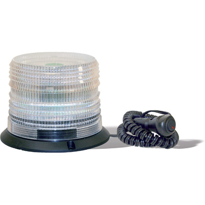 "Picture of Eight Flash 6 LED Clear Strobe Light - 1"" Pipe/3-Bolt Mount"