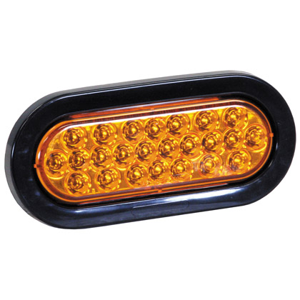 "Picture of 6-1/2"" 24 LED Amber Oval Strobe Warning Light - Recessed"