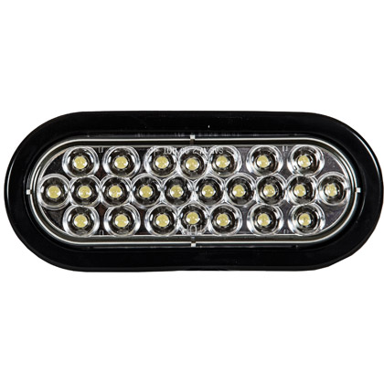 "Picture of 6-1/2"" 24 LED Clear Oval Strobe Warning Light - Recessed"