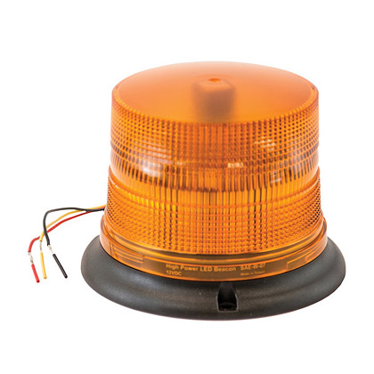 "Picture of 8 LED Programmable Flash Strobe - Amber Beacon - 1"" Pipe/3-Bolt Permanent Mount"
