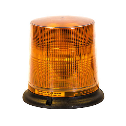 Picture of 12 LED Amber Programmable Flash Strobe Light - Permanent Mount