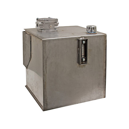 Picture of Stainless Steel 30 Gallon Reservoir with Integral Brackets and 10 Micron Filter