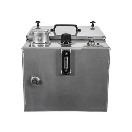 Picture of 30 Gallon Stainless Steel Reservoir with Valve Enclosure