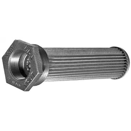"Picture of Thru-Wall Sump Strainer - 1-1/2"" Male Thread NPT x 1"" Outlet Port NPT"