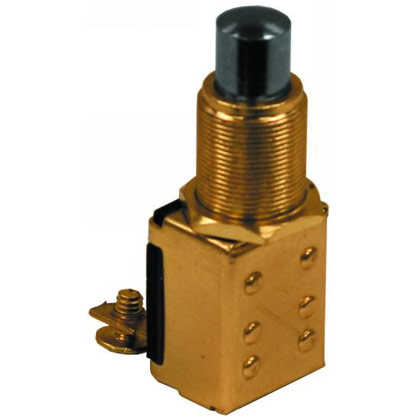 Picture of 12V Push Button Momentary Switch, (2) Terminals
