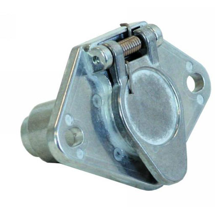 Picture of 4-Pin Round Metal Truck End Trailer Connector