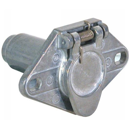Picture of 6-Pin Round Metal Truck End Trailer Connector