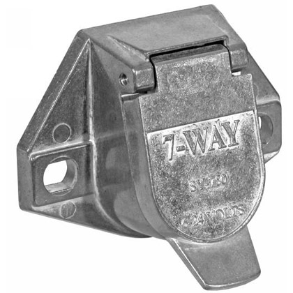 Picture of 7-Pin Round Metal Truck End Trailer Connector