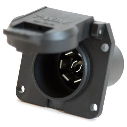Picture of 7-Pin Flat Plastic Truck End Trailer Connector