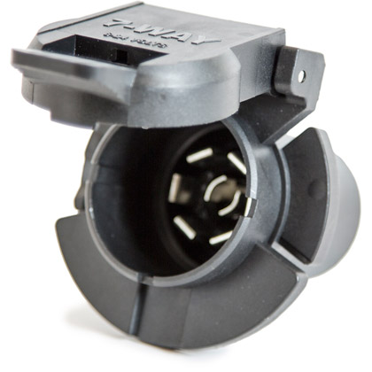 Picture of 7-Pin Flat Plastic Truck End Trailer Connector with Twist Lock