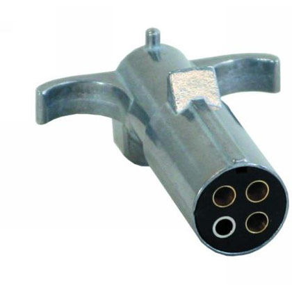 Picture of 4-Pin Round Metal Trailer End Connector