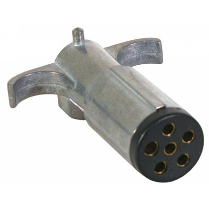 Picture of 6-Pin Round Metal Trailer End Connector
