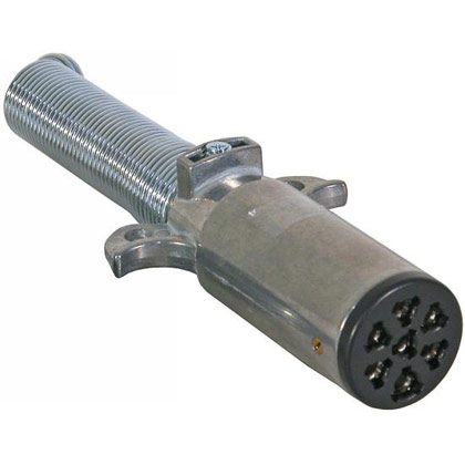 Picture of 7-Pin Round Metal Trailer End Connector