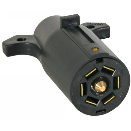 Picture of 7-Pin Flat Plastic Trailer End Connector