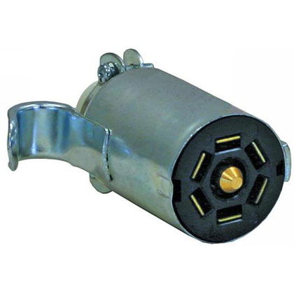 Picture of 7-Pin Flat Zinc Trailer End Connector