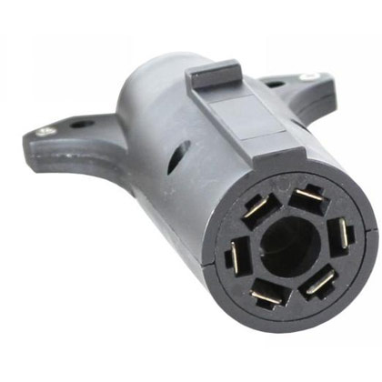 Picture of 7-Pin Flat to 6-Pin Round Plastic Adapter - Center Pin Auxiliary Power