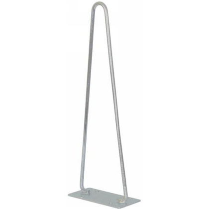 "Picture of Traffic Cone Holders - 22"" - Horizontal Bracket Mount - Silver Powder Coat Finish - PACK OF 2"