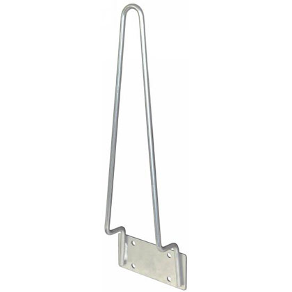 "Picture of Traffic Cone Holders - 22"" - Vertical Bracket Mount - Silver Powder Coat Finish - PACK OF 2"
