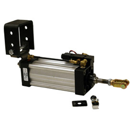 "Picture of 2-1/2"" x 6"" Stroke Hinge Mount Cylinder - Solenoid Assembly"