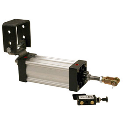 "Picture of 2-1/2"" x 8"" Hinge Mount Cylinder with Manual Air Valve"