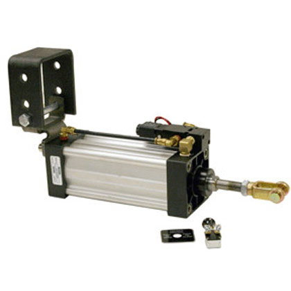 "Picture of 2-1/2"" x 8"" Stroke Hinge Mount Cylinder - Solenoid Assembly"