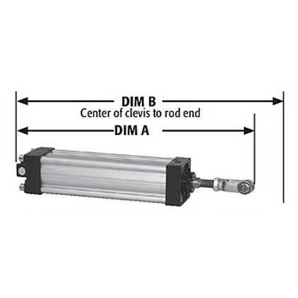 """Picture of 3-1/4"""" Diameter x 6"""" Extruded Aluminum Stroke Clevis Mount Cylinder Kit"""