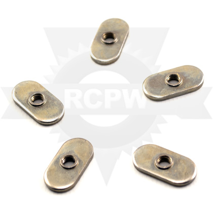 Picture of #10-32 Flat Zinc Weld Nut - ONLY 3 LEFT IN STOCK