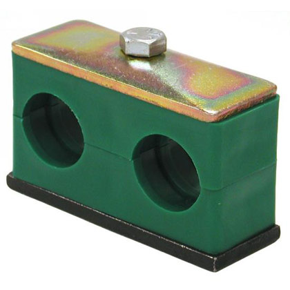 "Picture of Twin Series Clamp for Tubing - 1-1/2"" ID"