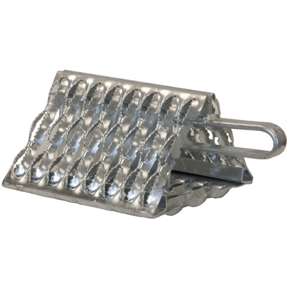 "Picture of Galvanized Serrated Wheel Chock with Handle - 9"" x 10"" x 6"""