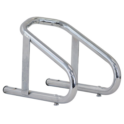 "Picture of Chrome Motorcycle Wheel Chock - 10"" x 5-1/2"" x 9"""