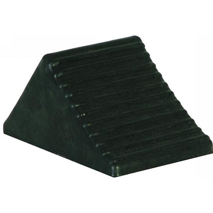"Picture of Rubber Wheel Chock - 5"" x 6"" x 5"""