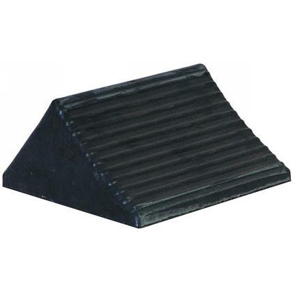 "Picture of Rubber Wheel Chock - 8"" x 6"" x 5"""