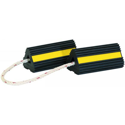 Picture of Rubber Wheel Chock Pair with Rope