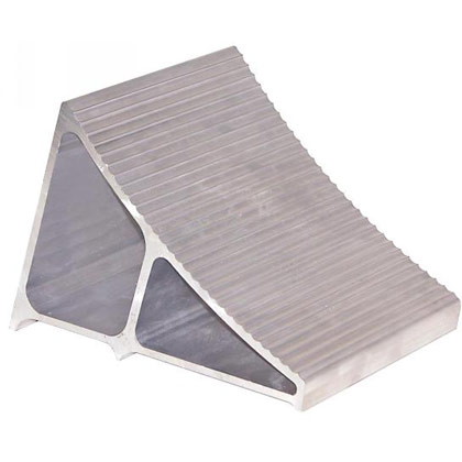 """Picture of Extruded Aluminum Wheel Chock - 6"""" x 8.75"""" x 5.86"""""""