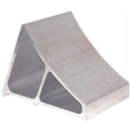 "Picture of Extruded Aluminum Wheel Chock - 7"" x 10.75"" x 7.8"""
