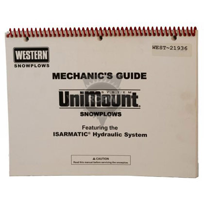 Picture of Western Solenoid Operated Power Unit Pump Service and Repair Manual