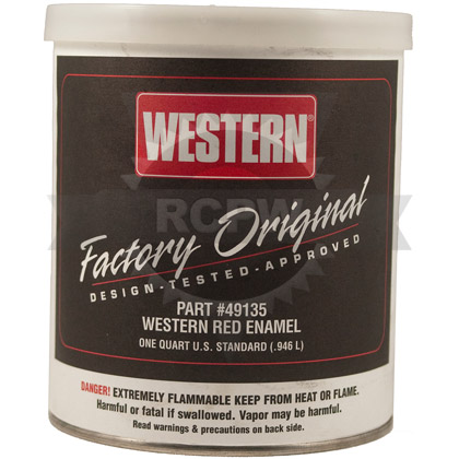Picture of 1 Quart Can of Western Red Paint