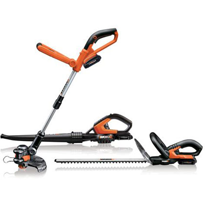 Picture of Worx 18V Li-Ion Combo Kit (Includes Grass Trimmer, Hedge Trimmer & Sweeper / Blower)