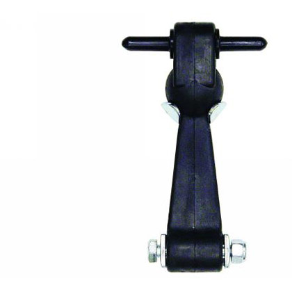 "Picture of 6"" Heavy Duty Rubber Hood Catch with Brackets & Pin (No Bumper)"