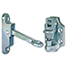 "Aluminum Door Hold Back with 2"" Hook & Keeper"
