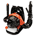 25.4cc 158 MPH 375 CFM Gas Backpack Leaf Blower Product Image