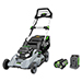 "21"" 56V Battery-Powered Walk Behind Push Lawn Mower w/ 5Ah Battery & 550W Charger Product Image"