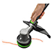 """Picture 2 of 15"""" Carbon Fiber Foldable Shaft String Trimmer with Powerload Head (Tool Only)"""