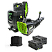 82V Commercial 690CFM Brushless Backpack Greenworks Blower Kit - Includes (2) GL-500 5.0 Ah Batteries and (1) GC-420 Dual Port Charger Product Image