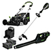 "25"" 82V Commercial Brushless Steel Deck Self-Propelled Lawn Mower - Includes (1) GB-500 Blower, (1) 82T16 String Trimmer, (2) GL-500 5.0Ah Batteries and (1) GC-420 Dual Port Charger Product Image"