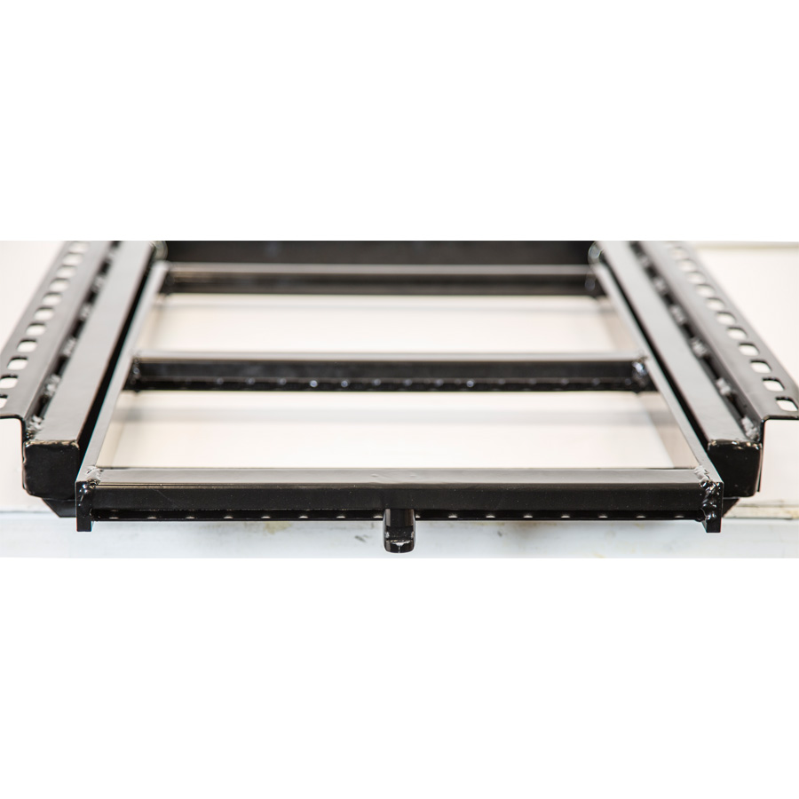 buyers   rung black powder coated retractable step