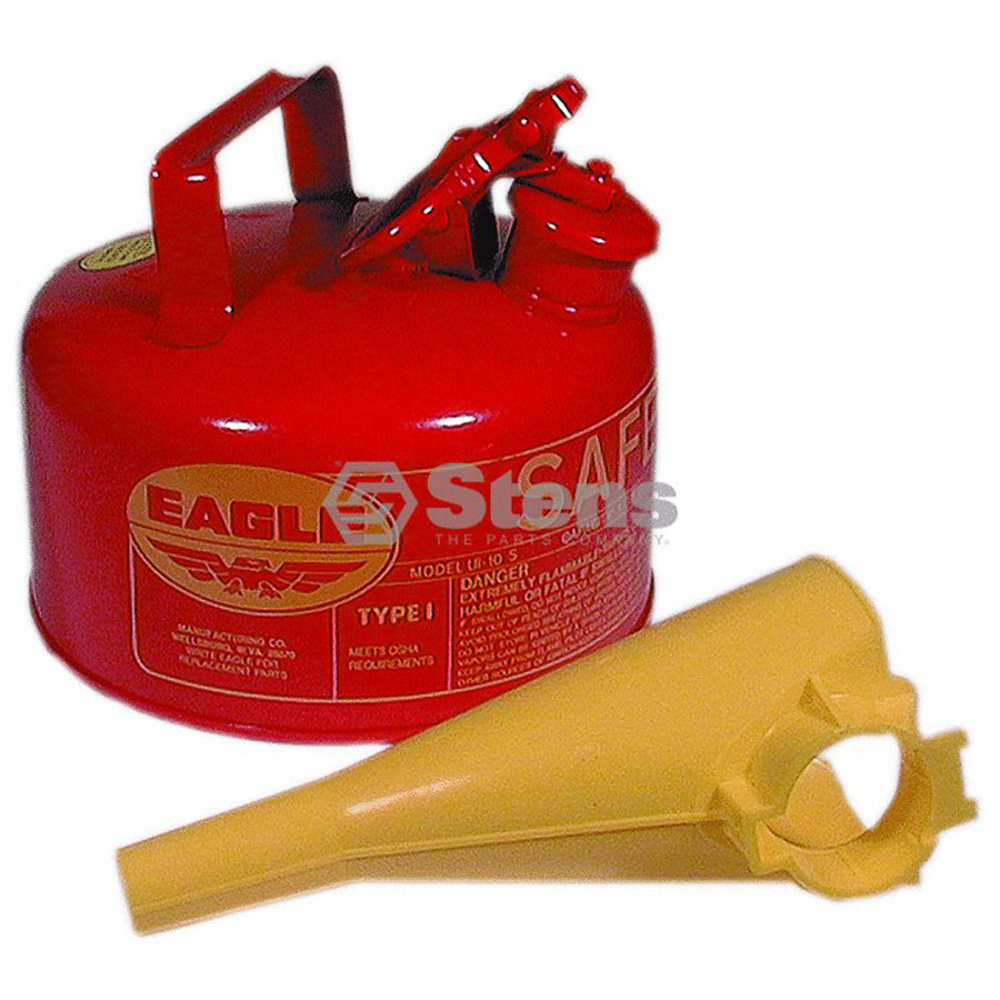 Stens 765180 1 Gallon Metal Safety Gas Can with Funnel ...
